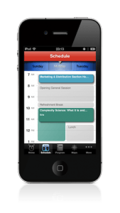 mobile event app visual personal schedule