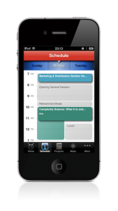 Mobile Conference App visual personal schedule
