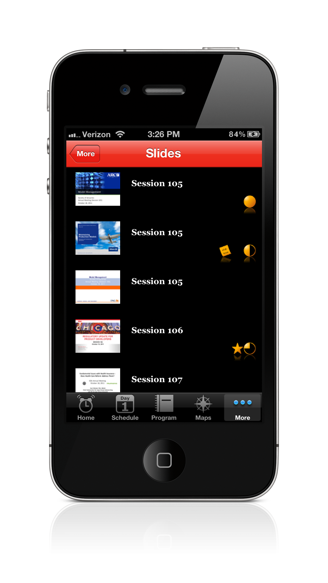 EventPilot Conference App with PowerPoint Slide Viewer
