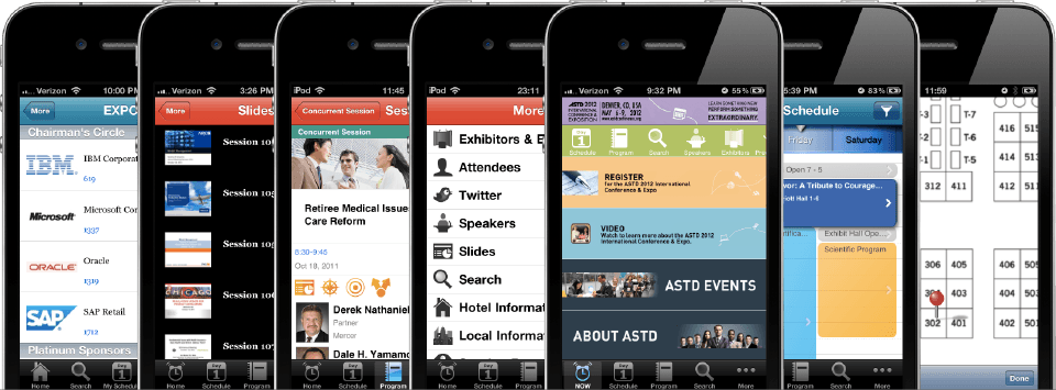 multi-event conference app features