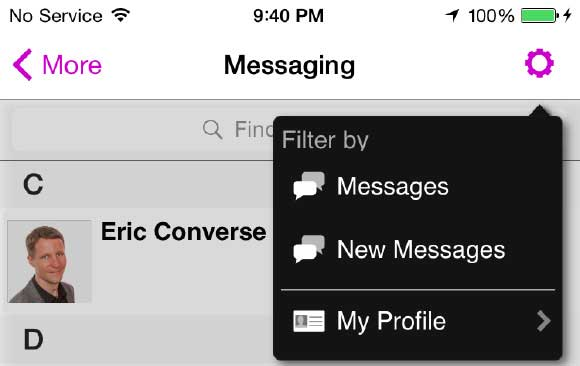 Messaging and networking in event app