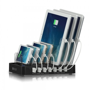 Mobile device charger sponsored and announced via iBeacon