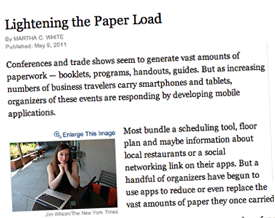 ATIV's EventPilot clients mentioned in the New York Times